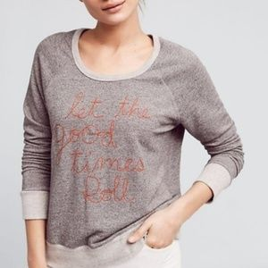 Sundry Embroidered Stretch Terry Sweatshirt